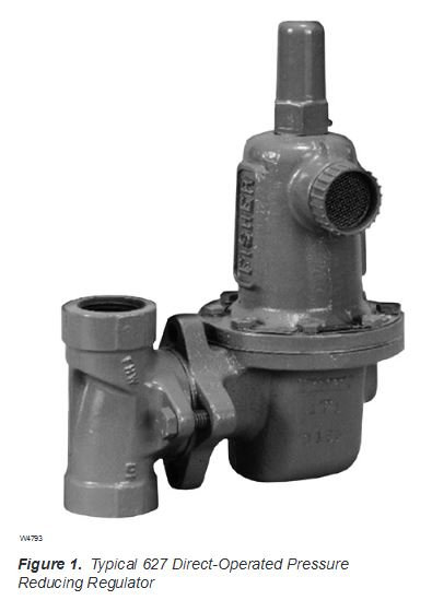 Emerson Process Bulletin 71.1:627 Fischer Series 627 pressure reducing regulator
